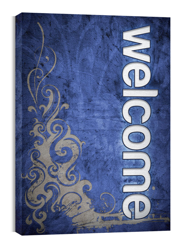Wall Art, Directional, Adornment Welcome, 24 x 36