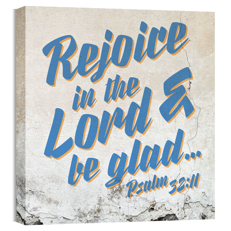 Wall Art, Scripture, Mod Psalm 32 11, 24 x 24