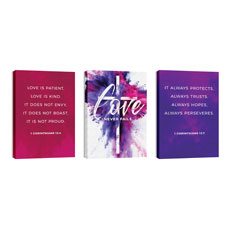 Love Never Fails Triptych
