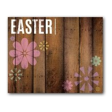 Easter Wood and Flowers