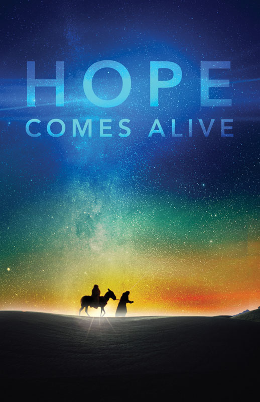 DIY Postcard Packs, Christmas, Hope Comes Alive, 5.5 X 8.5