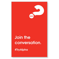 Alpha Join The Conversation Red