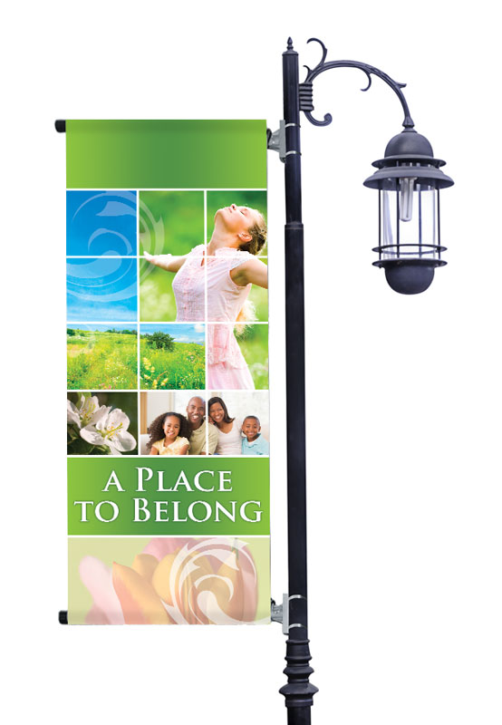 Banners, Spring - General, Belong Spring, 2' x 5'