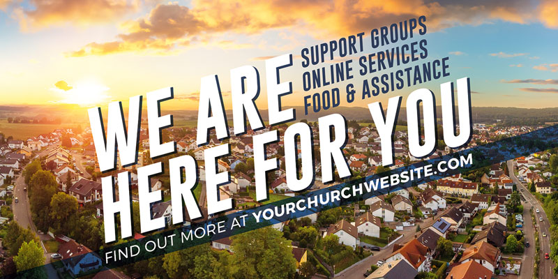 Church Postcards, Encouragement, Here For You Neighbors, 5.5 x 11
